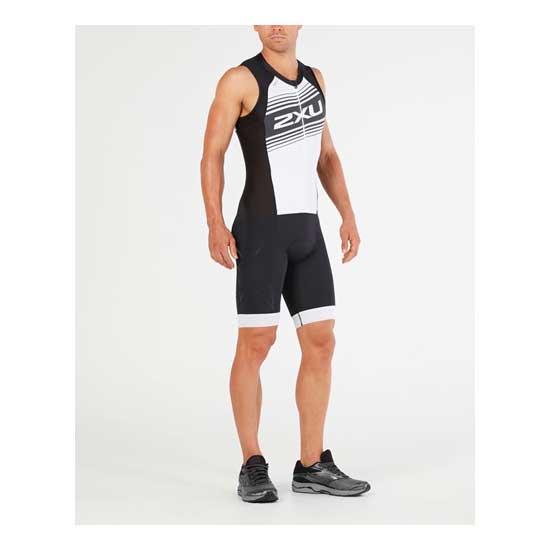 2XU-Men's-Compression-Full-Zip-Trisuit-Black-White-Logo-Graphic-1