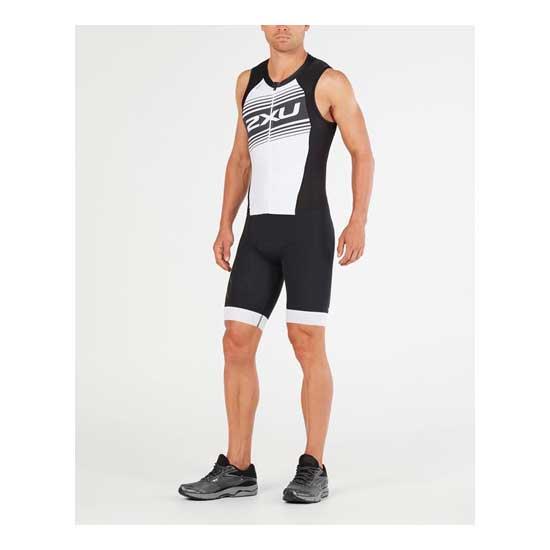 2XU-Men's-Compression-Full-Zip-Trisuit-Black-White-Logo-Graphic-3