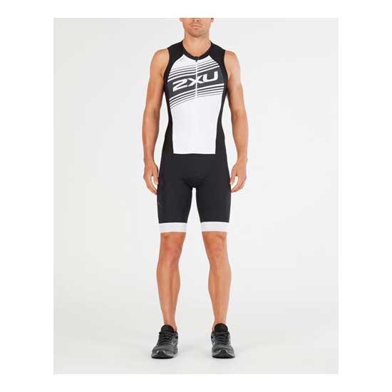 2XU-Men's-Compression-Full-Zip-Trisuit-Black-White-Logo-Graphic