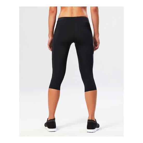 2XU-Women's-Compression-3-4-Tights-Black-Striped-White-2