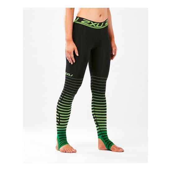 2XU-Women's-Power-Recovery-Compr-Tights-Black-Green-1
