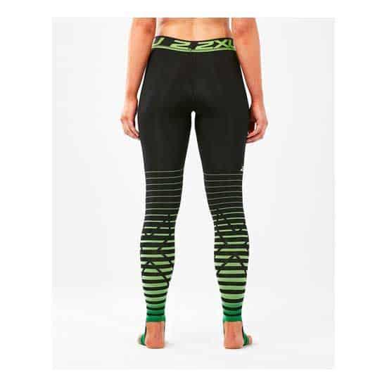 2XU-Women's-Power-Recovery-Compr-Tights-Black-Green-2