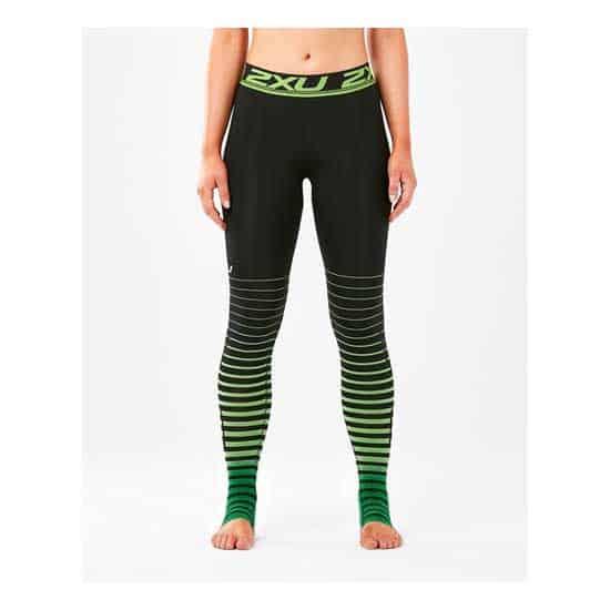 2XU-Women's-Power-Recovery-Compr-Tights-Black-Green